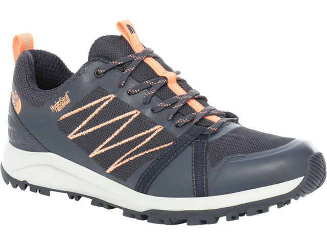 The North Face Litewave Fastpack II WP Chaussures Femme, urban navy/cantloupe